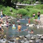 さかな園 川遊び